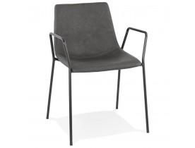 Grijze design stoel met armleuningen 'BILL'