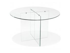 Ronde design glazen eetkamertafel 'BOBBY TABLE ROUND'  - Ø 120 cm