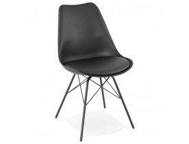 Design stoel BYBLOS zwart industriele stij - Alterego