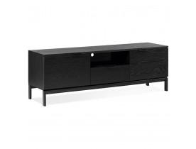 Design tv-meubel 'CATODIK' van hout en zwart metaal