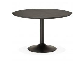 Ronde eettafel/bureautafel CHEF met zwarte essenhouten afwerking - Foto 1