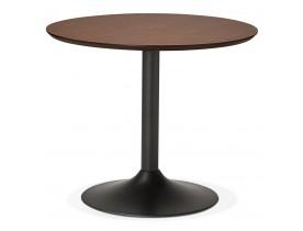 Kleine ronde bureautafel / eettafel 'CHEF' met notenhouten afwerking - Ø 90 cm