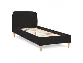 Bed 'DREAM' met zwarte stoffen bekleding voor 1 persoon - 90x200 cm