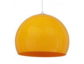 Bolvormige hanglamp 'ELMET' van oranje kunststof