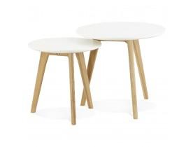 Inschuifbare ronde tafel 'GABY' Scandinavische stijl
