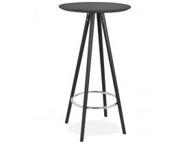 Hoge design tafel / Statafel 'GALA' in zwart hout