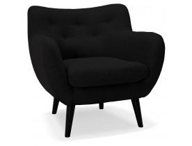 Fauteuil voor de woonkamer 1 zitplaats 'GASPARD MINI' in zwarte stof