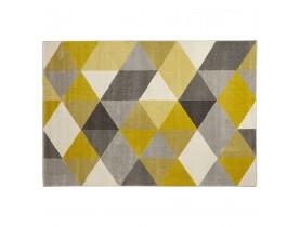 Design tapijt 'GRAFIK' 160/230 cm met gele grafische motieven