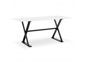 Eettafel / design bureau HAVANA van wit glas - 160x80 cm - Alterego