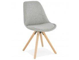 Scandinavische stoel 'HIPHOP' van grijze stof