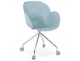 Design bureaustoel 'JEFF' blauw op wieltjes