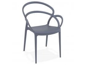 Donkergrijze design terrasstoel 'JULIETTE'