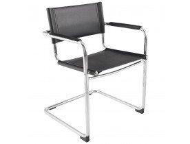Zwarte vergaderstoel / bezoekersstoel 'KA' voor kantoor of vergaderrruimte