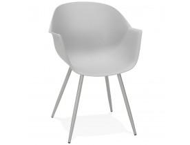 Grijze design stoel met armleuningen 'KELLY'