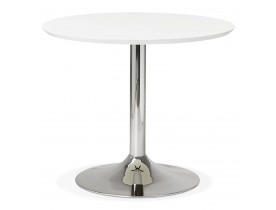 Kleine ronde bureautafel / eettafel 'KITCHEN' wit - Ø 90 cm