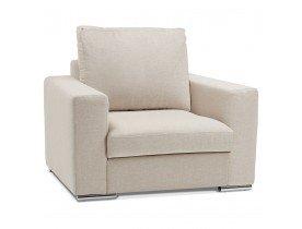 Fauteuil 1 zitplaats 'LUCA MINI' van beige stof