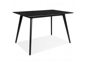 Design zwarte 'MARIUS' tafel / bureau in hout - 120x80 cm