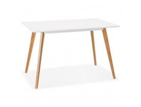 Design witte 'MARIUS' tafel / bureau in Scandinavische stijl - 120x80 cm