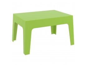 Lage, groene tafel 'MARTO' uit kunststof