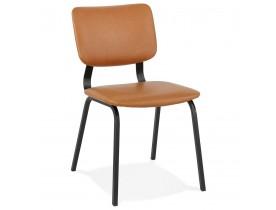 Bruine vintage stoel 'MELODY' met zwarte metalen structuur