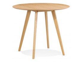 Natuurkleurige ronde keukentafel 'MIDY' in Scandinavische stijl - ø 90 cm