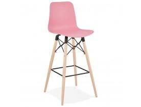 Design barkruk 'MOZAIK' roze Scandinavische stijl