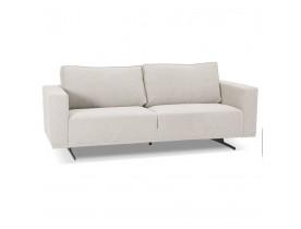 Beige design rechte zitbank 'MOZART' met 3 plaatsen