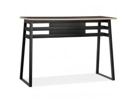 Zwarte hoge bartafel 'NIKI' - 150x60 cm