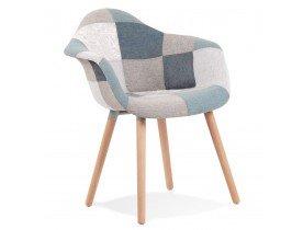 Design stoel 'NINA' met armleuningen in patchwork-stijl