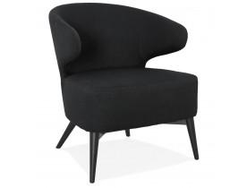 Design lounge fauteuil 'ODILE' zwart