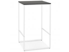 Hoge, industriële 'ORTOS' tafel met zwart blad en witte structuur