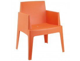 Oranje design stoel 'PLEMO'