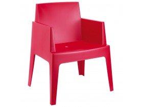 Designstoel 'PLEMO' rood