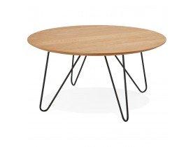 Houten salontafel 'PLUTO' met natuurkleurige hout fineer