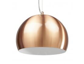 Bolvormige, koperkleurige hanglamp 'POGO'