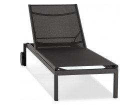 Zwarte ligstoel 'PREMIA' - bestel per 2 stuks / prijs voor 1 stuk
