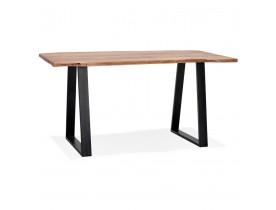 Hoge bartafel 'RAFA' van massief hout en metaal - 200x95 cm