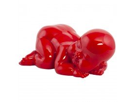 Decoratief standbeeld 'REPO' liggende baby in rood polyhars