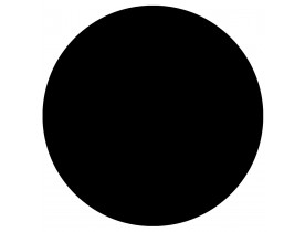 Zwart, rond tafelblad 'RINGO' Ø 70cm