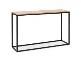 Industriële consoletafel 'RIVER' van natuurlijk afgewerkt hout en zwart metaal