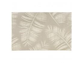 Beige design tapijt 'SEQUOIA' 200x290 cm met palmbladmotief - binnen/buiten