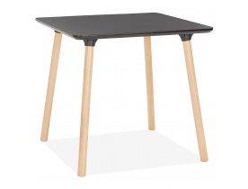 Zwart vierkant tafeltje 'SEVEN'
