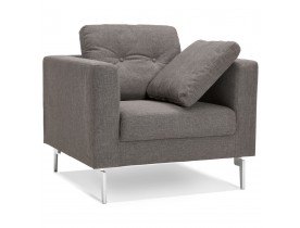 Fauteuil voor de woonkamer met 1 zitplaats 'SIXTY MINI' in heel moderne, grijze stof