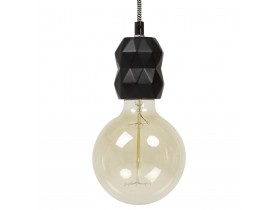 Zwarte design lampvoet SOKET - Alterego 1