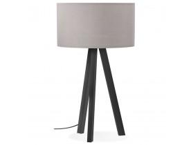 Design tafellamp 'SPRING MINI' met grijze lampenkap en zwarte staander
