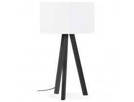 Design tafellamp 'SPRING MINI' met witte lampenkap en zwarte staander