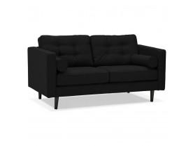 Zwarte stoffen rechte design zetel 'STAGU' - Zetel met 2 plaatsen