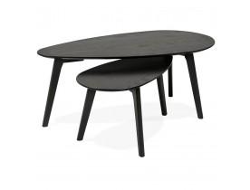 Bijzettafels ontwerp 'STOKOLM' in zwart hout