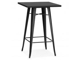 Zwarte, hoge industriële tafel 'TATY' - 70x70 cm