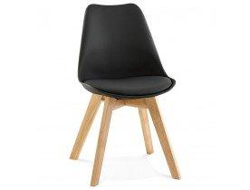 Zwarte, moderne stoel TEKI - Alterego